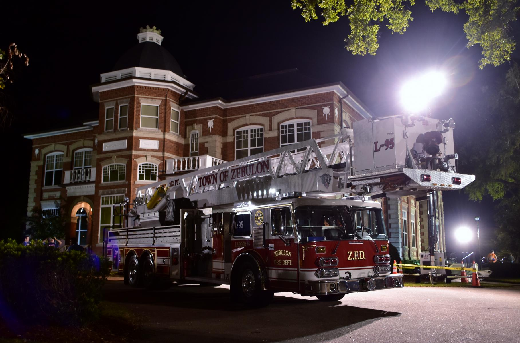 Ladder 95 at Town Hall