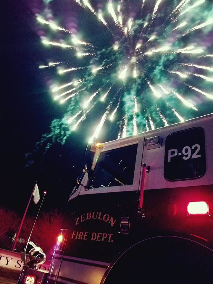 Pumper 92 at Five County Stadium Fireworks