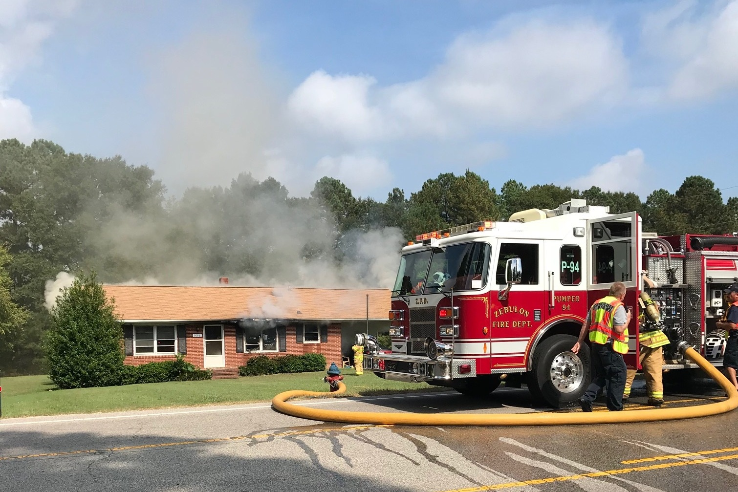 Pumper 94 at Structure Fire
